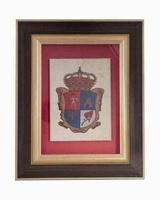 Placa de homenaje de colgar con piedra imitacion traventino