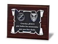 Placa de homenaje pergamino varios acabados