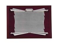 Placa de homenaje silver plated