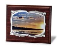 Placa homenaje en aluminio pergamino suave a todo color