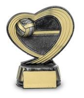 Torfeo corazón para voleybol Negro Oro
