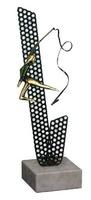 Trofeo Agata Gimnasta con cinta, detalles en verde
