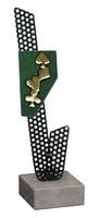 Trofeo Agata detalle verde para Poker