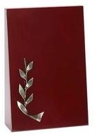 Trofeo Ambar de madera ramo Laurel