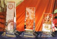 Trofeo Amuda Lateral Cristal Triangular
