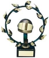 Trofeo Automovilismo Casco y Corona Laurel