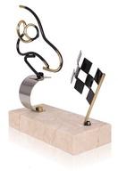 Trofeo Automovilismo Conductor Dorado y Plateado