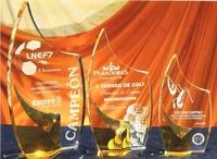 Trofeo Bali Cristal Transparente Amarillo