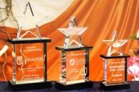 Trofeo Bander Estrella Cristal Transparente