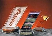 Trofeo Barma Inclinado Cristal