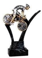 Trofeo Ciclismo en resina, peana de mármol.