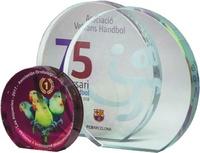 Trofeo Circular en cristal modelo Bimba