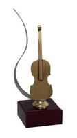 Trofeo Cuarzo Contrabajo de Latón Musica