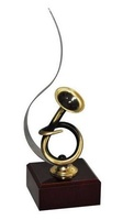 Trofeo Cuarzo Trompa de Musica