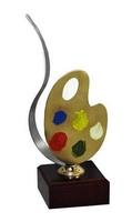 Trofeo Cuarzo paleta de pintura con colores