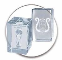 Trofeo Cubo de Cristal Lozoya para personalizar.