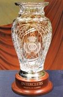 Trofeo Datooga Florero Biselado Cristal Madera