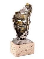 Trofeo Diseño Bicolor de Resina