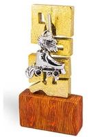 Trofeo Escultura en metalizado oro Cheran
