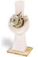 Trofeo Escultura icono efecto piedra con aplique modelo Zapopan