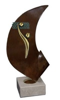 Trofeo Jugador de Voley y red modelo Oriana