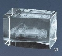 Trofeo Lozoya para Kart, cubo de cristal