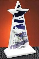 Trofeo Metacrilato Chomala Blanco Estrella