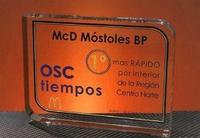 Trofeo Metacrilato Grebo Cuadrado Redondo Bordes