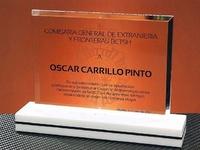 Trofeo Metacrilato Gurunsi Rectangular Blanco Negro