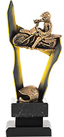 Trofeo Moto realizado en resina.