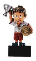 Trofeo Niño triunfador con portadisco