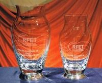 Trofeo Nyanja Florero Cristal Plata
