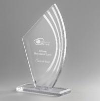 Trofeo Ovalo de cristal personalizable modelo Pilcaya