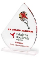 Trofeo Pihuamo de Metacrilato transparente personalizable