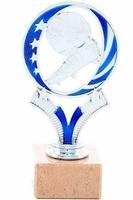 Trofeo Plateado y azul Camas