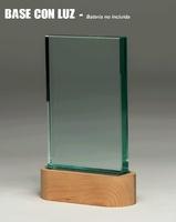 Trofeo Rectangular de Cristal con Luz