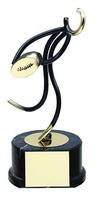 Trofeo Rugby jugador negro y dorado