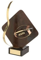 Trofeo Rugby rombo aplique pelota
