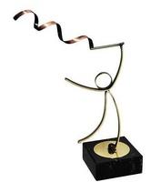 Trofeo Topacio en  Laton para Gimnasia Ritmica modalida Cinta