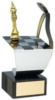 Trofeo ajedrez jugador y tablero
