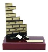 Trofeo albañil ladrillo
