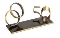 Trofeo aniversario anillos y 50