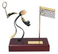 Trofeo bádminton peana madera