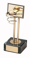 Trofeo baloncesto canasta dorada