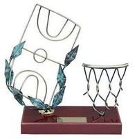 Trofeo baloncesto red canasta y campo baloncesto