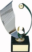 Trofeo balonmano acero y latón
