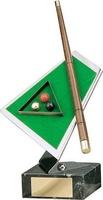 Trofeo billar pool taco, bolas y mesa