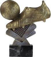 Trofeo bota resina de futbol