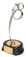 Trofeo carnaval disfrazado dorado