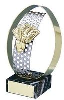 Trofeo cartas detalle aro dorado